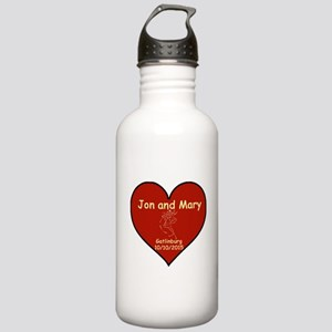 Jon and Mary Heart Water Bottle