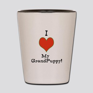 t-shirt for grandparents of dogs Shot Glass