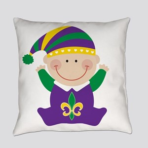 Mardi Gras Kids Holiday Everyday Pillow