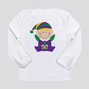 Mardi Gras Kids Holiday Long Sleeve T-Shirt