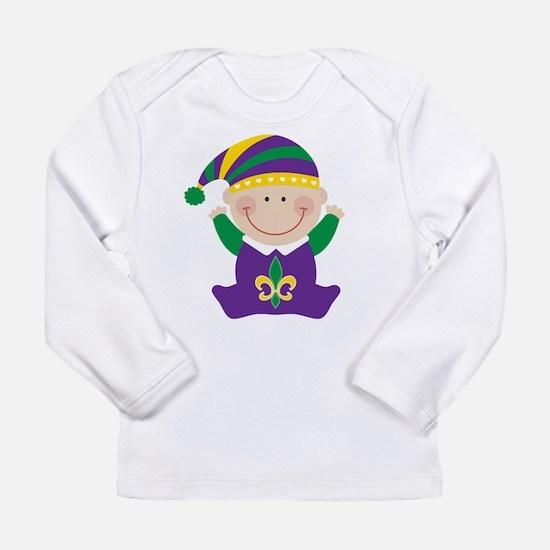 Mardi Gras Kids Holiday Long Sleeve T-Shirt
