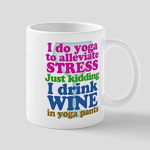 Yoga vs Wine Humor Mugs