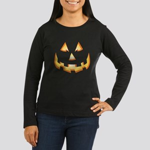 Jack-O'-Lantern Women's Long Sleeve Dark T-Shirt