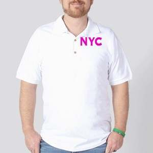 NYC new york city bright hot pink initi Golf Shirt