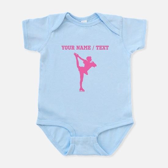 Pink Figure Skate Silhouette (Custom) Body Suit