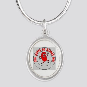 You Gotta Be Kidney Me Silver Oval Necklace