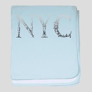 Gradient NYC New York City Vintage Ty baby blanket
