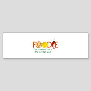 the love for food Bumper Sticker