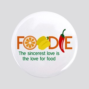 "the love for food 3.5"" Button"