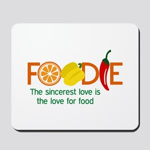 the love for food Mousepad
