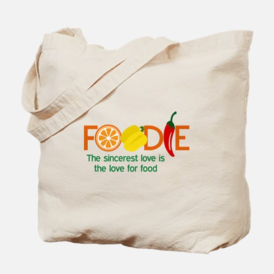 the love for food Tote Bag