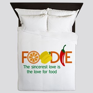 the love for food Queen Duvet