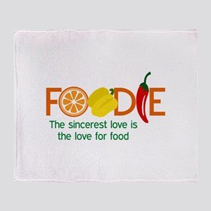 the love for food Throw Blanket