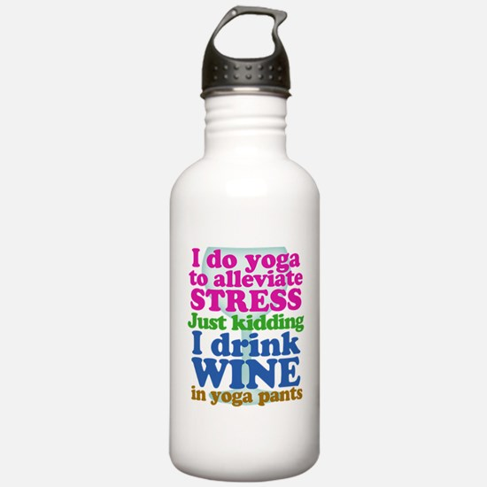 Yoga vs Wine Humor Water Bottle