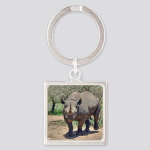 Rhinoceros Square Keychain