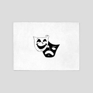 tagedy comedy masks 5'x7'Area Rug