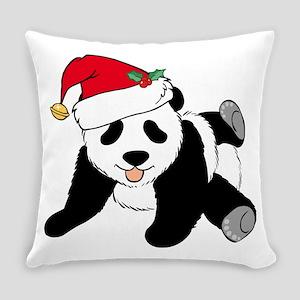 Christmas Panda Everyday Pillow