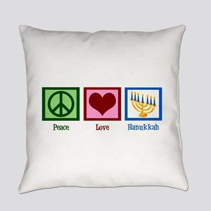Peace Love Hanukkah Everyday Pillow