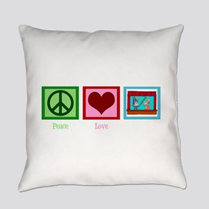 Peace Love Puppets Everyday Pillow