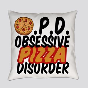 Funny Pizza Everyday Pillow
