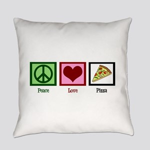 Peace Love Pizza Everyday Pillow