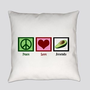 Peace Love Avocado Everyday Pillow