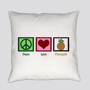 Peace Love Pineapple Everyday Pillow