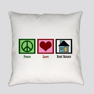 Peace Love Real Estate Everyday Pillow