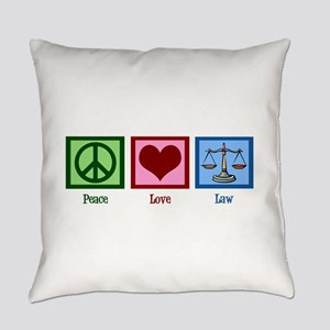 Peace Love Law Everyday Pillow