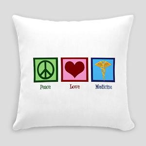 Peace Love Medicine Everyday Pillow
