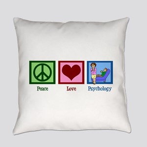 Peace Love Psychology Everyday Pillow
