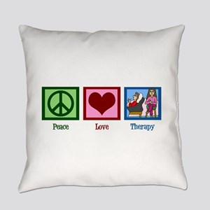 Peace Love Therapy Everyday Pillow