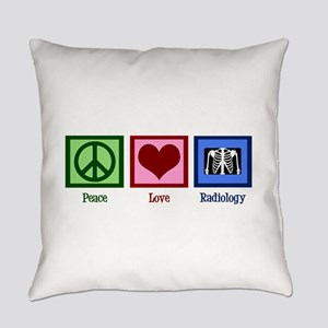 Peace Love Radiology Everyday Pillow