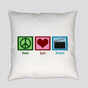 Peace Love Action! Everyday Pillow