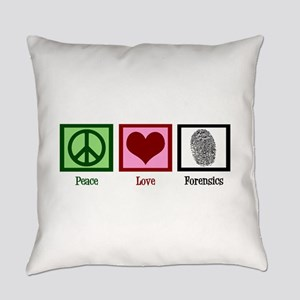 Peace Love Forensics Everyday Pillow
