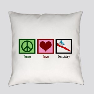 Peace Love Dentistry Everyday Pillow