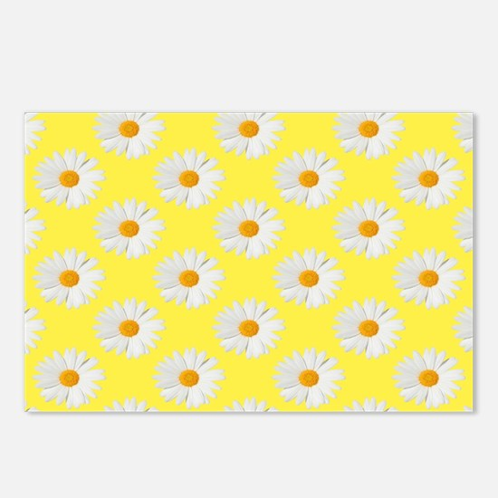Daisy Flower Pattern Yell Postcards (Package of 8)