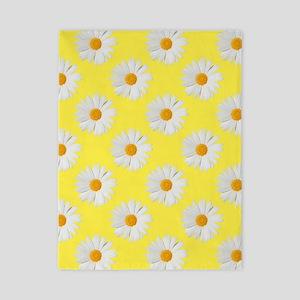 Daisy Flower Pattern Yellow Twin Duvet