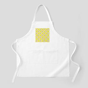 Daisy Flower Pattern Yellow Apron
