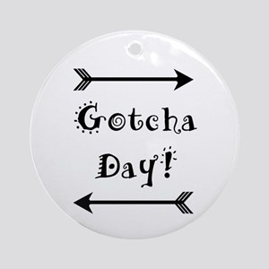 Gocha Day - Adoption Round Ornament