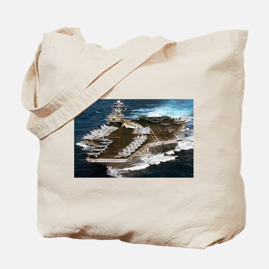 USS Kennedy Ship's Image Tote Bag