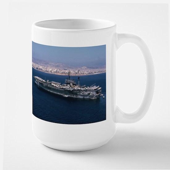 USS America Ship's Image Large Mug