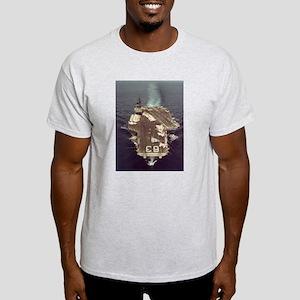 USS Kitty Hawk Ship's Image Light T-Shirt