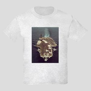 USS Kitty Hawk Ship's Image Kids Light T-Shirt