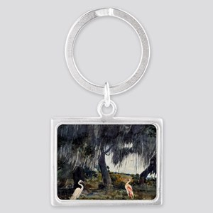 At Tampa, painting by Winslow H Landscape Keychain