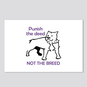 PUNISH DEED NOT BREED Postcards (Package of 8)