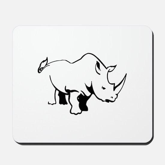 RHINO OUTLINE Mousepad