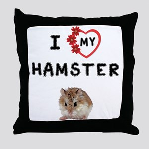Love Hamster Throw Pillow