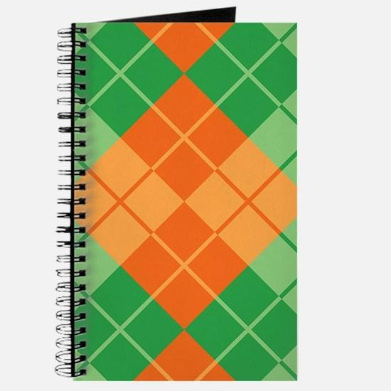 Green-Orange Argyle Journal