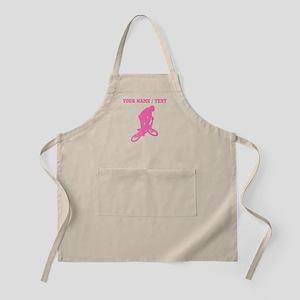 Pink BMX Biker Silhouette (Custom) Apron